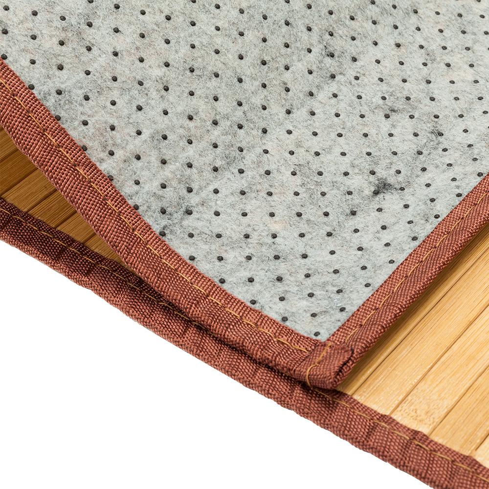 5 Sizes Bamboo Floor Mat Natural Area Rug Indoor Carpet Non-sliding Bedroom Bath